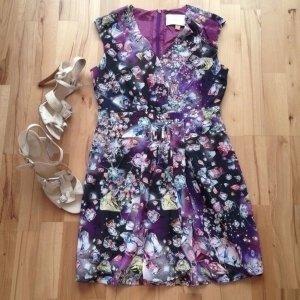 Anthropologie Mini vestido lila
