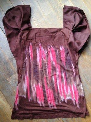 Anthropologie Print Shirt brown-pink