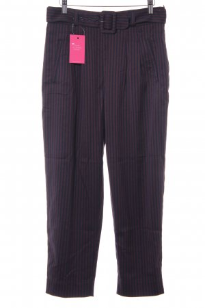 Anthropologie Jersey Pants dark blue-dark red striped pattern simple style