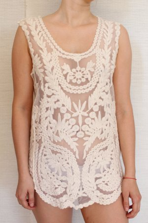 Anthropologie Top extra-large crème-beige clair