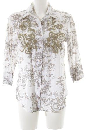 Antica Sartoria Langarm-Bluse Blumenmuster Casual-Look