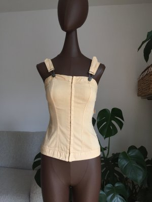 Antiflirt Top tipo bustier color oro-amarillo claro