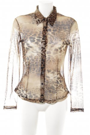 Antiflirt Transparenz-Bluse Leomuster Party-Look
