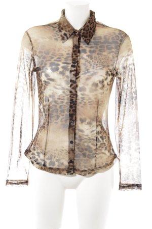 Antiflirt Transparent Blouse leopard pattern party style