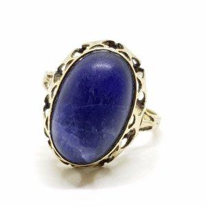 Antik 333 Gold Ring Art deco Goldring 333er Edelstein Cabochon blau