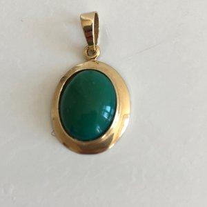 Vintage Pendente oro-verde Oro