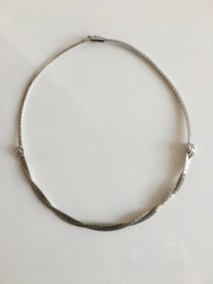 Vintage Collier Necklace silver-colored real silver
