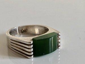 Antik 835 Silberring Silber Ring Silberring Jade Edelstein Jadestein Jadeit grün