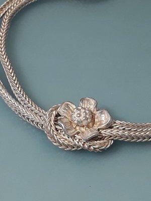 Antik 900er Silber Armband Schlaufenarmband Blume Juwelierstück Flower Silberarmband