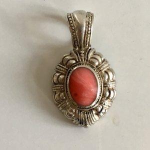 Antik 925 Sterling Silber Anhänger rhodochrosit Cabochon Edelstein rosé