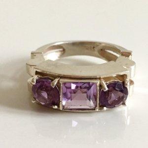 Antik Amethyst Massiv Silber Ring Art Deco Silberring 835 Silber