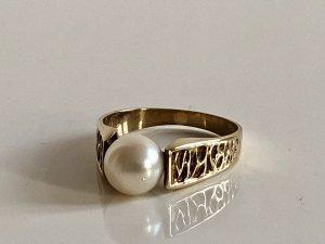 Antik Art Deco 333 Gold Ring Goldring Perle 8kt 8ct Luxus vintage 333er Goldschmuck