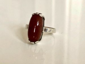 Antik Art Deco 835 Silber Ring Silberring Karneol Carneol