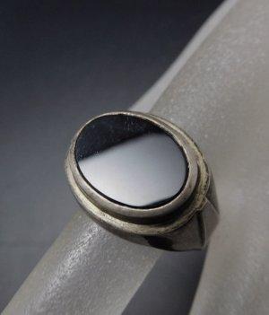 Antik Art Deco Damen Herren Ring 835er Silber Onyx 835 echtsilber Unisex