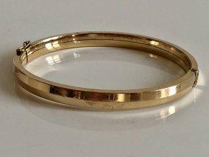 Antik Art-Deco Gold Doublé Klapp Armreifen Armreif Armspange Armband Juwelierstück Meisterpunze