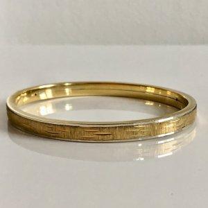 Antik Art deco Gold und 925  Silber 925er Bicolor Armreif Armband Klapparmreif Jugendstil Armspange Juwelier Speidel original