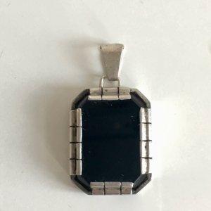 Vintage Pendentif argenté-noir argent