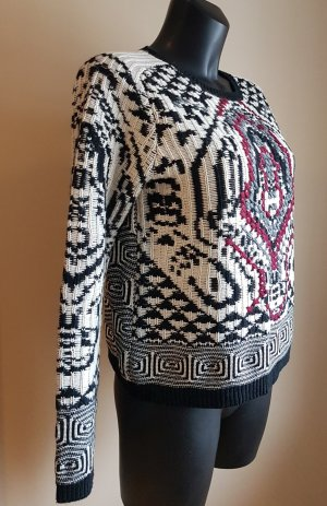 Antik Batik Maglione norvegese multicolore Lana