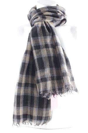Antik Batik Sjaal met franjes geruite print casual uitstraling