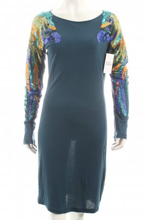Antik Batik Jerseykleid petrol extravaganter Stil