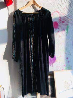 Antik Batik ** Kleid ** Tunika ** Schwarz mit Stickerei ** Gr. S/M