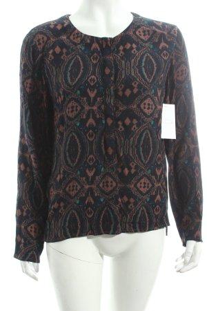 Antik Batik Langarm-Bluse abstraktes Muster Casual-Look