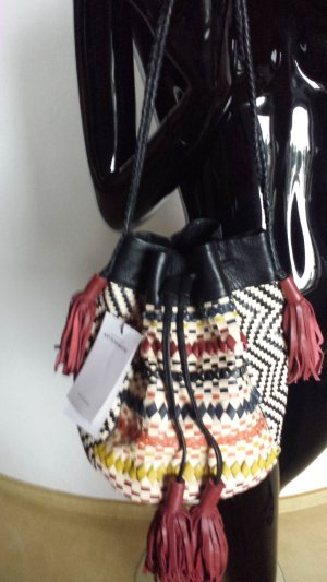 Antik Batik Ledertasche, wunderschöne Arbeit in bestem Leder