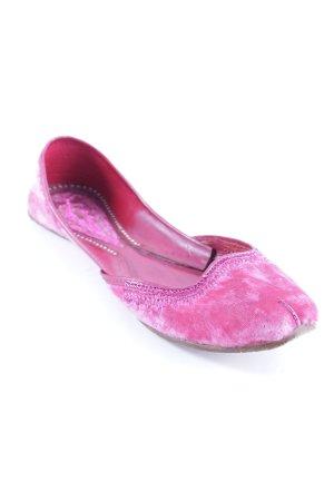 Antik Batik Slingback ballerina's roze abstract patroon Zigeuner stijl