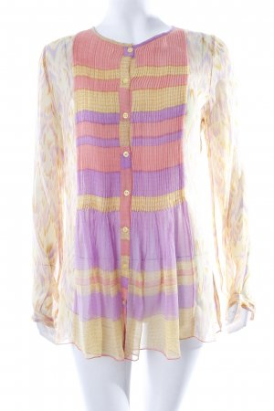 Antik Batik Transparenz-Bluse Batikmuster Transparenz-Optik