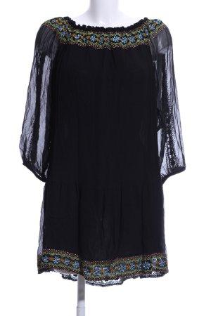 Antik Batik Blusa trasparente nero elegante