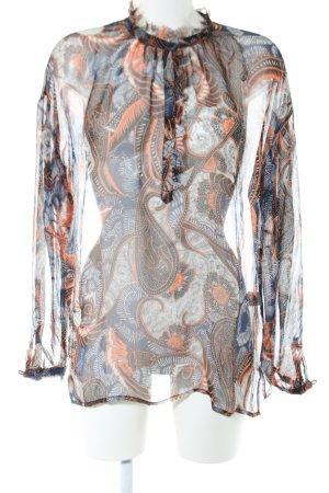 Antik Batik Tunikabluse abstraktes Muster Casual-Look