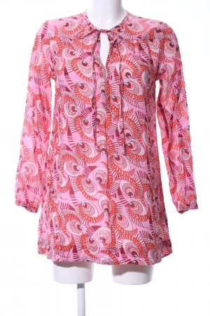 Antik Batik Tunic Blouse pink-red abstract pattern casual look
