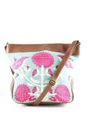 Antik Batik Umhängetasche Blumenmuster Casual-Look
