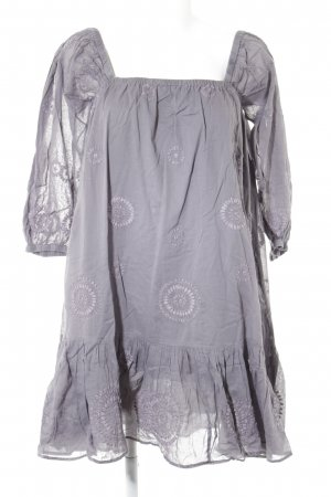 Antik Batik Flounce Dress grey-mauve abstract pattern casual look