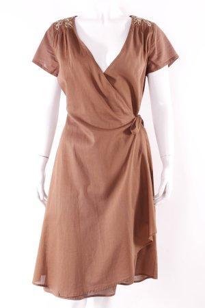 Antik Batik Wickelkleid braun