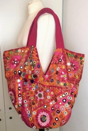 Antik Batik Borsa shopper multicolore Tessuto misto