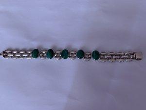ANTIK Bezaubernde Kunstwerk Armband Silber 950 Td-80 Mexico Malachit Steine Armband Grün