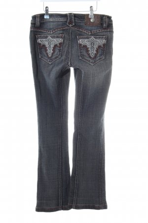 Antik Denim Jeansschlaghose blau Casual-Look