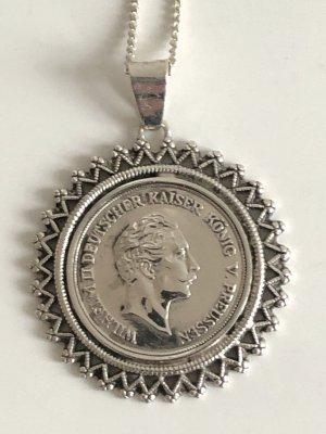 """Antik Echtsilber Anhänger Münze """"20 Mark"""" """"1878"""" Kaiser wilhelm silbermünze Preussen"""