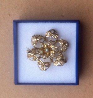 antik- Gold Brosche, 14 ct., RARITÄT