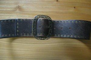Antik Golden Buckle Bridle Leather Gürtel Gr. 80