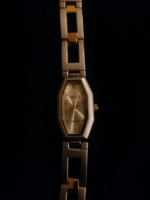 Gucci Watch With Metal Strap silver-colored-gold-colored