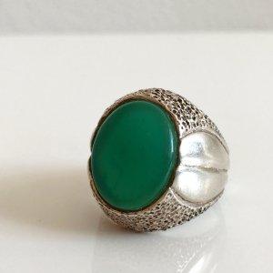 Antik Jade Ring Silber 800 Silberring grün Jade Edelstein