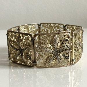 Antik Jugendstil 800 Silber Armband echt Silber vg gold filigran design