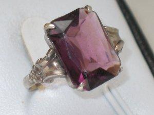 Antik Jugendstil 830 silber Ring Silberring facettiert Stein edel Vintage