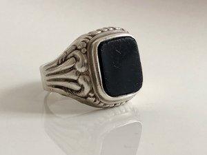 Antik Jugendstil 835 Silber Onyx Ring echtsilber Unisex Herren Damen Silberring Art Deco