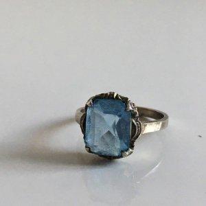 Antik Jugendstil 835 Silber Ring Jugendstil Echtsilber Aqua Stein