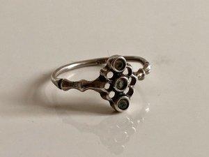 Antik Jugendstil 835 Silber Ring Silberring 3 Aquamarine Art deco