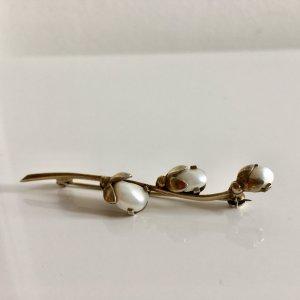 Antik Jugendstil 835er Silber vg gold floral, Blume Blüte