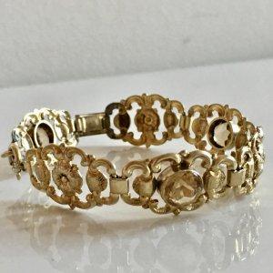 Antik Jugendstil 900er Silberarmband Gold Citrin Goldarmband verziert Edelsteine facettiert